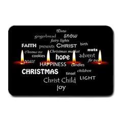 Candles Christmas Advent Light Plate Mats by Celenk