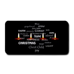Candles Christmas Advent Light Medium Bar Mats by Celenk
