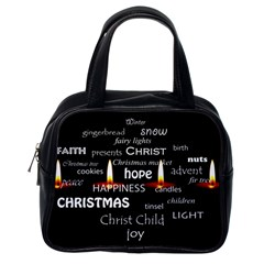 Candles Christmas Advent Light Classic Handbags (one Side) by Celenk
