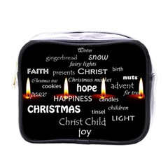 Candles Christmas Advent Light Mini Toiletries Bags by Celenk