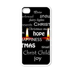 Candles Christmas Advent Light Apple Iphone 4 Case (white) by Celenk