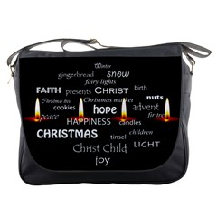 Candles Christmas Advent Light Messenger Bags by Celenk