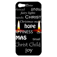 Candles Christmas Advent Light Apple Iphone 5 Hardshell Case by Celenk