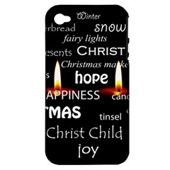 Candles Christmas Advent Light Apple Iphone 4/4s Hardshell Case (pc+silicone) by Celenk