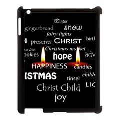 Candles Christmas Advent Light Apple Ipad 3/4 Case (black) by Celenk