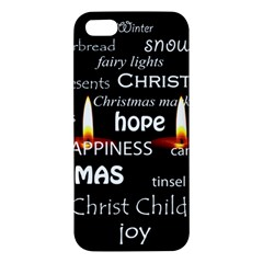 Candles Christmas Advent Light Apple Iphone 5 Premium Hardshell Case by Celenk