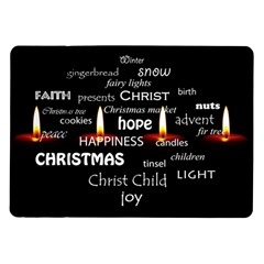 Candles Christmas Advent Light Samsung Galaxy Tab 10 1  P7500 Flip Case by Celenk