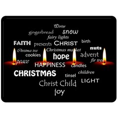 Candles Christmas Advent Light Double Sided Fleece Blanket (large)  by Celenk