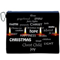 Candles Christmas Advent Light Canvas Cosmetic Bag (xxxl) by Celenk