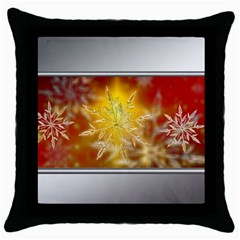 Christmas Candles Christmas Card Throw Pillow Case (black) by Celenk