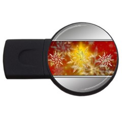 Christmas Candles Christmas Card Usb Flash Drive Round (4 Gb) by Celenk