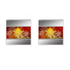Christmas Candles Christmas Card Cufflinks (square) by Celenk
