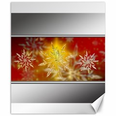 Christmas Candles Christmas Card Canvas 8  X 10  by Celenk