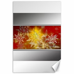 Christmas Candles Christmas Card Canvas 24  X 36  by Celenk