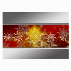 Christmas Candles Christmas Card Large Glasses Cloth (2 Side) by Celenk