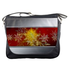 Christmas Candles Christmas Card Messenger Bags by Celenk
