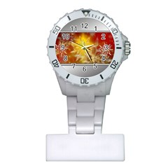 Christmas Candles Christmas Card Plastic Nurses Watch by Celenk