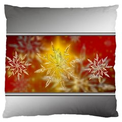 Christmas Candles Christmas Card Large Flano Cushion Case (two Sides) by Celenk