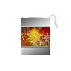 Christmas Candles Christmas Card Drawstring Pouches (xs)  by Celenk