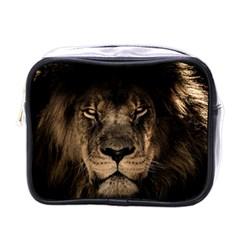 African Lion Mane Close Eyes Mini Toiletries Bags by Celenk