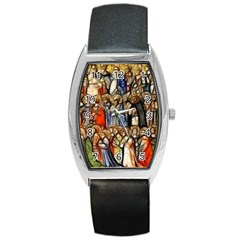 All Saints Christian Holy Faith Barrel Style Metal Watch by Celenk