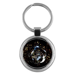 Christmas Star Ball Key Chains (round)  by Celenk