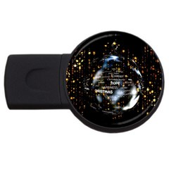 Christmas Star Ball Usb Flash Drive Round (4 Gb) by Celenk