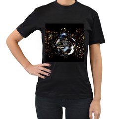 Christmas Star Ball Women s T Shirt (black) by Celenk