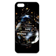 Christmas Star Ball Apple Iphone 5 Seamless Case (black) by Celenk