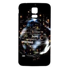 Christmas Star Ball Samsung Galaxy S5 Back Case (white) by Celenk
