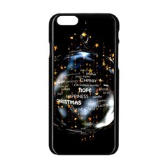 Christmas Star Ball Apple Iphone 6/6s Black Enamel Case by Celenk