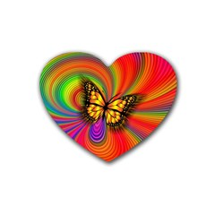 Arrangement Butterfly Aesthetics Rubber Coaster (heart)