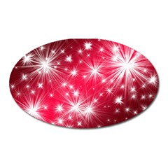 Christmas Star Advent Background Oval Magnet by Celenk