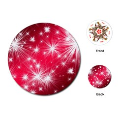 Christmas Star Advent Background Playing Cards (round)  by Celenk