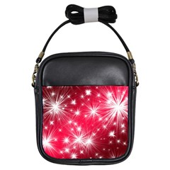 Christmas Star Advent Background Girls Sling Bags by Celenk
