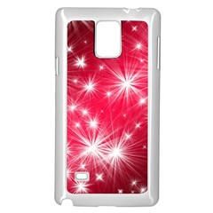 Christmas Star Advent Background Samsung Galaxy Note 4 Case (white) by Celenk