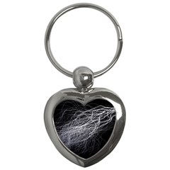 Flash Black Thunderstorm Key Chains (heart)  by Celenk