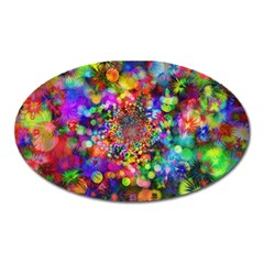 Background Color Pattern Structure Oval Magnet by Celenk