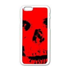 Halloween Face Horror Body Bone Apple Iphone 6/6s White Enamel Case by Celenk
