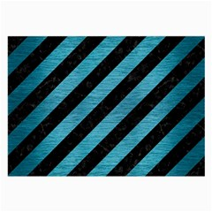 Stripes3 Black Marble & Teal Brushed Metal (r) Large Glasses Cloth by trendistuff