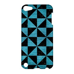 Triangle1 Black Marble & Teal Brushed Metal Apple Ipod Touch 5 Hardshell Case by trendistuff