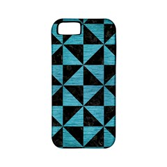 Triangle1 Black Marble & Teal Brushed Metal Apple Iphone 5 Classic Hardshell Case (pc+silicone) by trendistuff