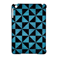 Triangle1 Black Marble & Teal Brushed Metal Apple Ipad Mini Hardshell Case (compatible With Smart Cover) by trendistuff