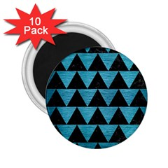 Triangle2 Black Marble & Teal Brushed Metal 2 25  Magnets (10 Pack)  by trendistuff