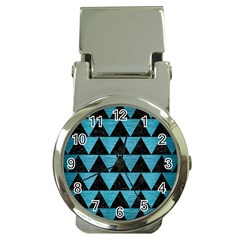 Triangle2 Black Marble & Teal Brushed Metal Money Clip Watches by trendistuff