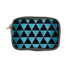 Triangle3 Black Marble & Teal Brushed Metal Coin Purse