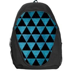 Triangle3 Black Marble & Teal Brushed Metal Backpack Bag by trendistuff