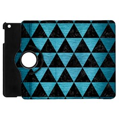 Triangle3 Black Marble & Teal Brushed Metal Apple Ipad Mini Flip 360 Case by trendistuff