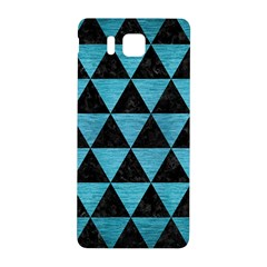 Triangle3 Black Marble & Teal Brushed Metal Samsung Galaxy Alpha Hardshell Back Case by trendistuff