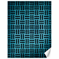 Woven1 Black Marble & Teal Brushed Metal Canvas 12  X 16   by trendistuff